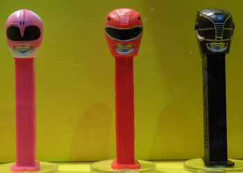 Pink, Red and Black Power Ranger Pez