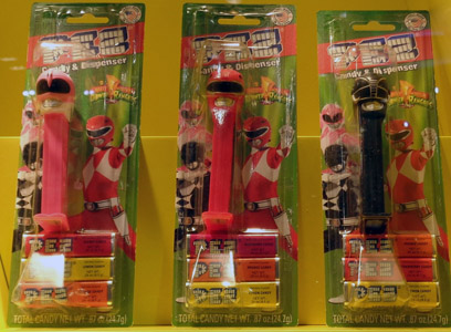 Power Rangers Pez Mint on Card