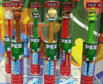2018 Christmas Pez Tubes