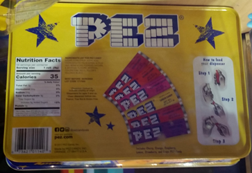 Pez Candy Tin Back