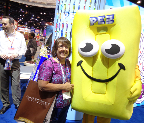 Chris Jordan at 2017 Sweets and Snacks Expo Pez Booth