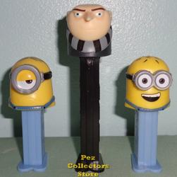 Gru and mini Minions Pez Loose