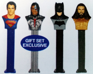 Justice League Pez with Aquaman and Gift tin Exclusive Cyborg Pez
