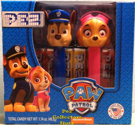 Paw Patrol Chase and Skye Pez Twin Pack