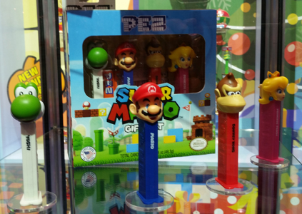 Super Mario Pez Gift set with printed stems