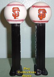 2018 Elongated SF Logo Baseball and 2010 SF Logo Baseball Pez
