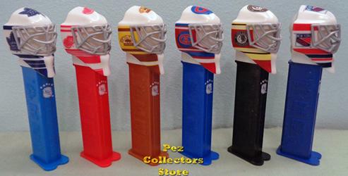 Canadian Original 6 NHL Hockey Team Masks Pez Set