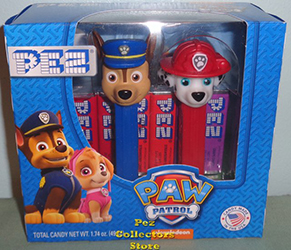 Paw Patrol Chase and Marshall Pez Twin Pack