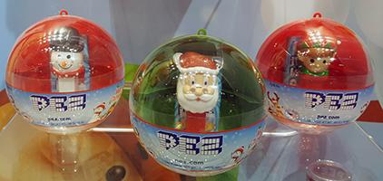 2018 Christmas Ornaments with mini pez