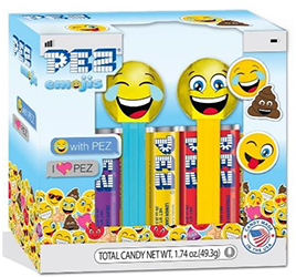 Crystal LOLing and Happy Emoji Pez Twin Pack