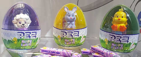 Easter Eggs with Mini Pez