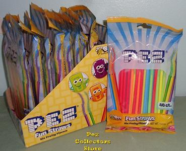 Pez Fun Straws 40 ct Bags