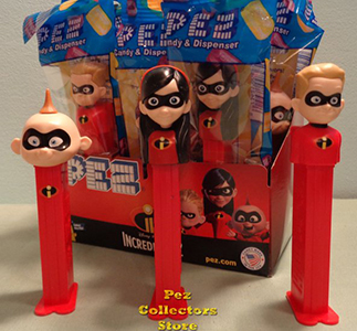 Incredibles 2 Pez Set Mint in Bag