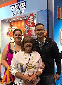 Jessica Orozco, Brian Jaskolski and Chris Jordan at Pez Booth