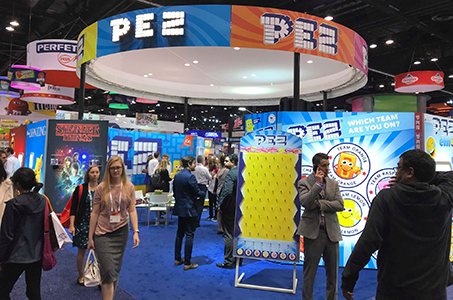 Pez Booth at 2018 Sweets and Snacks Expo