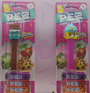 Shopkins Pez MOC with Cheeky Chocolate and Cupcake Queen