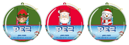 2019 Mini Pez in Christmas Ornaments