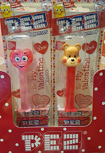 2020 Valentine's Day Crystal Pink Silly Heart and Teddy Bear Pez