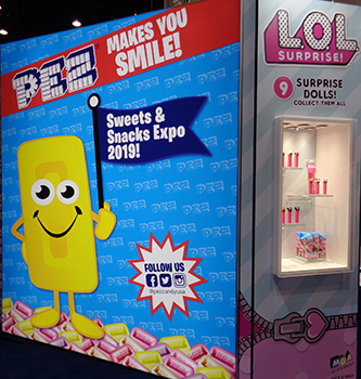 PEZ Booth at Sweets and Snacks Expo 2019