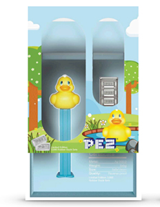 PAMP Suisse Ducky Pez with Silver Pez Candy Bricks