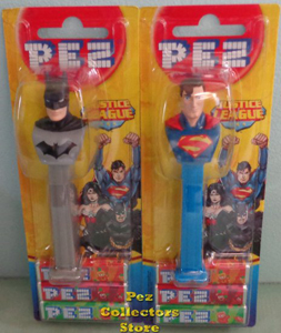 2016 European Batman and Superman Pez MOC