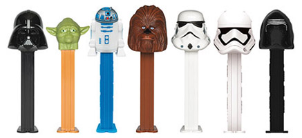 Star wars pez with Kylo Ren and First Order Stormtrooper