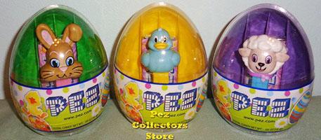 2018 Easter Eggs with Mini Pez Set