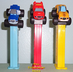 Blaze, Crusher and Stripes Pez Set Loose