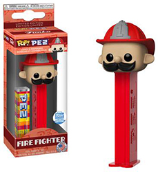 Fireman Pez Pal Pop Pez with Funko Sticker