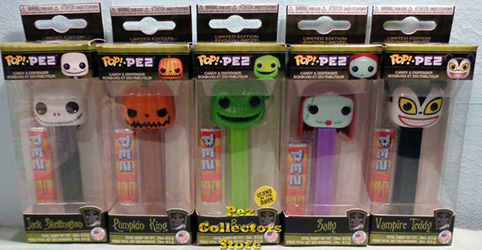 Nightmare Before Christmas set of 5 Pop Pez Bundle