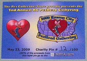2009 KC PezHead Gathering CCFA Charity Pin