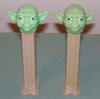 New Yoda (left) and old Yoda (right)