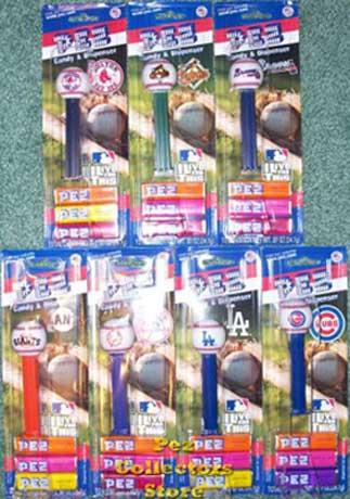 Set of 7 Major League Baseball Pez