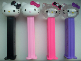 European Hello Kitty Skulls Pez Set