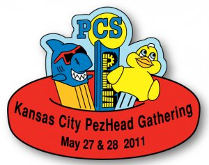 KC PezHead Gathering Registration Pin