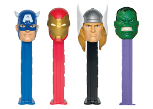 Avengers Pez with Metallic Gold Ironman