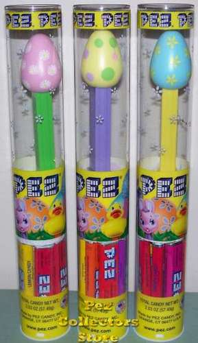 2012 Easter Egg Pez in Tubes