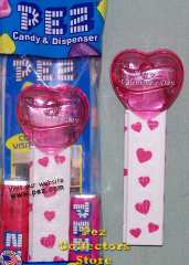 Rubine Red Valentine Heart Pez