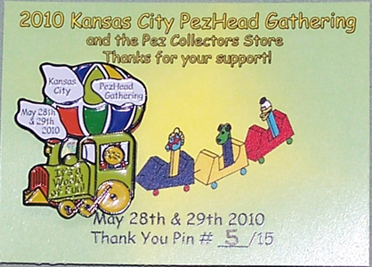 2010 KC PezHead Gathering Thank You Pin #5/15