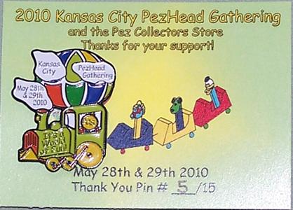 2010 KC PezHead Gathering Thank You Pin #5/15
