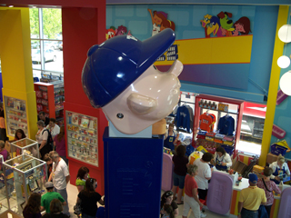 Pez Visitor Center Giant Pez Boy