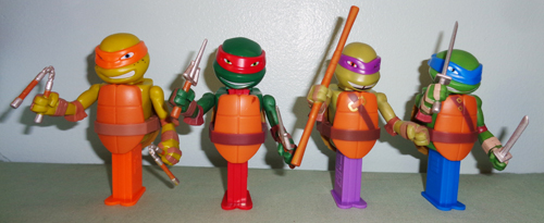 TMNT Connectibles pez set loose