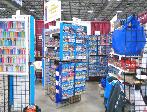 Pez Collectors Store Booth 3116 at Planet Comicon