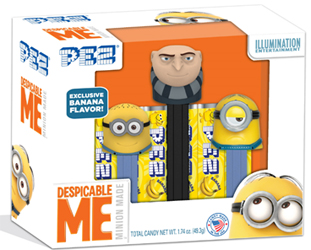 Despicable Me 3 Tripack withGru and Mini pez Jerry and Stuart