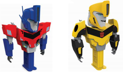 Transformers Connectibles Pez