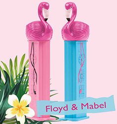 Mabel and Floyd Flamingo Pez