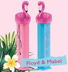 Mabel and Floyd Flamingo Pez