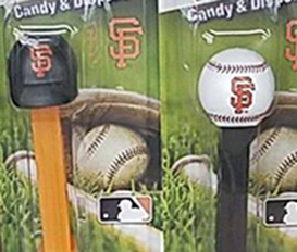 New SF Logo Cap and Baseball Pez MOC