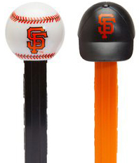 Original SF Logo (Giants) Baseball and Cap Pez