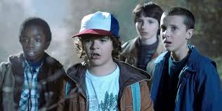 Stranger Things Lucas, Dustin, Mike and Eleven